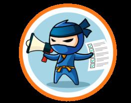 ninja holding megaphone